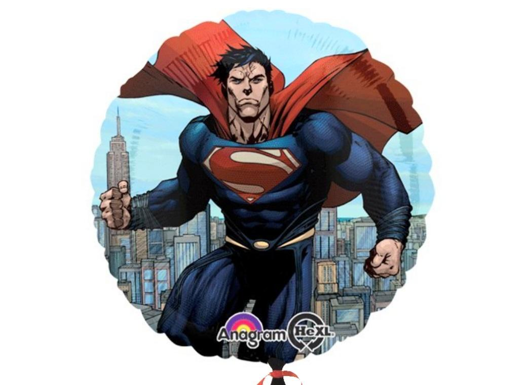 Superman Man of Steel Foil Balloon