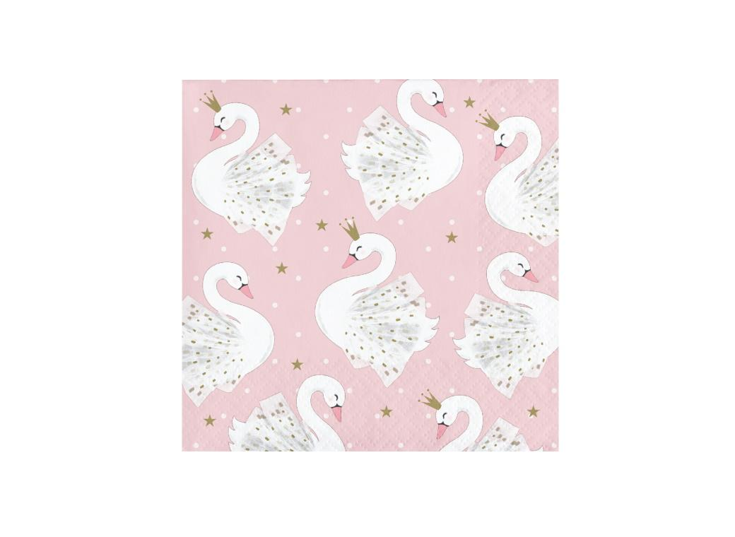 Swan Party Beverage Napkins 16pk
