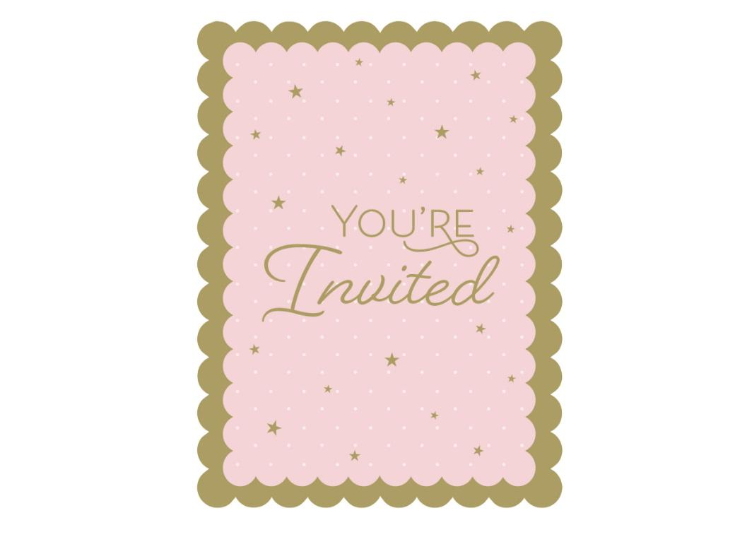 Swan Party Invitations 8pk