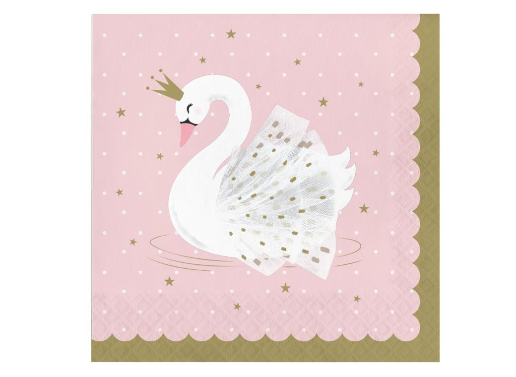 Swan Party Lunch Napkins 16pk