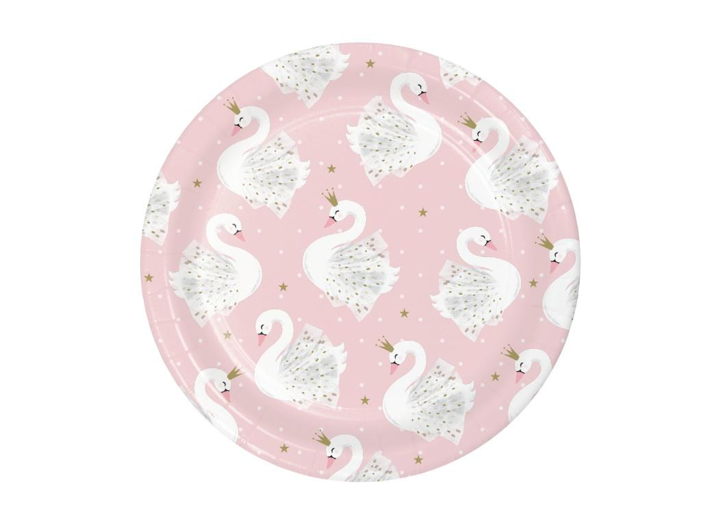 Swan Party Lunch Plates 8pk
