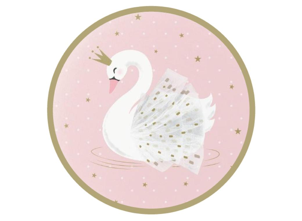 Edible Icing Image - Swan Round
