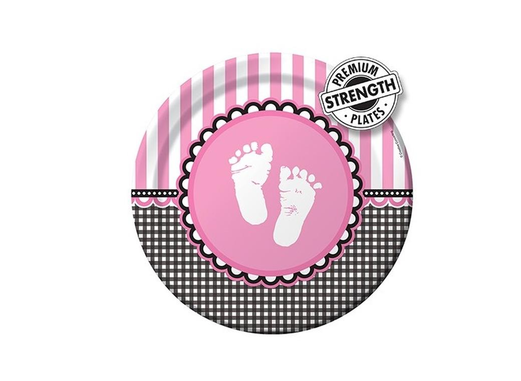 Sweet Baby Feet Pink - Plates
