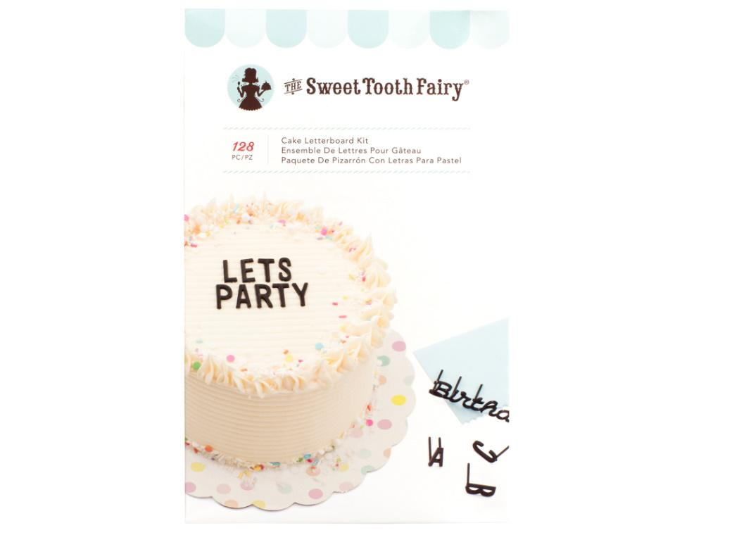 Sweet Tooth Fairy Cake Letterboard Kit Black