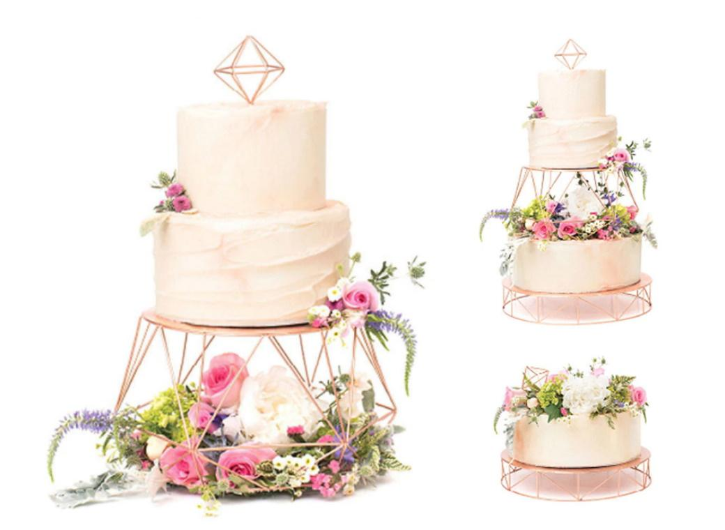 Sweet Tooth Fairy Rose Gold Tiered Cake Stand