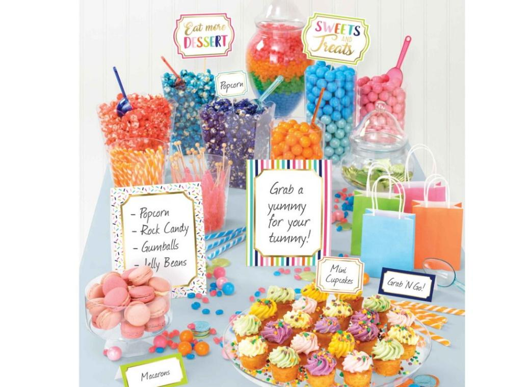 Sweets & Treats Candy Buffet Decorating Kit