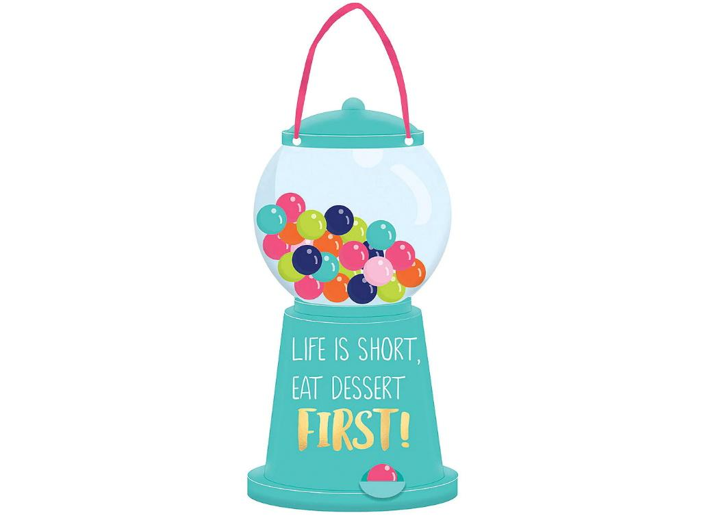 Sweets & Treats Mini Gumball Machine Sign