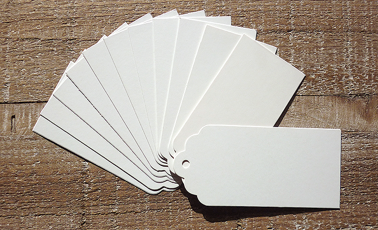 White Rounded Tags - 12pk