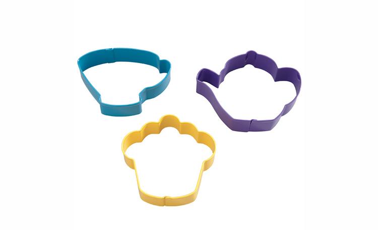 Wilton 3pc Tea Party Cookie Cutter Set