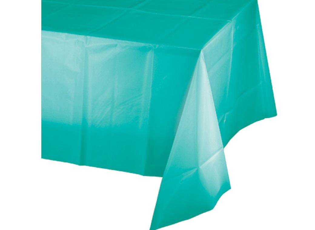 Teal Lagoon Plastic Table Cloth
