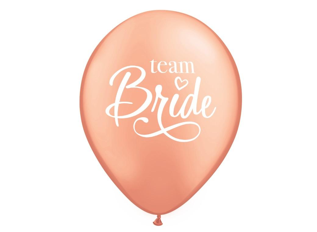 Team Bride Rose Gold Balloon