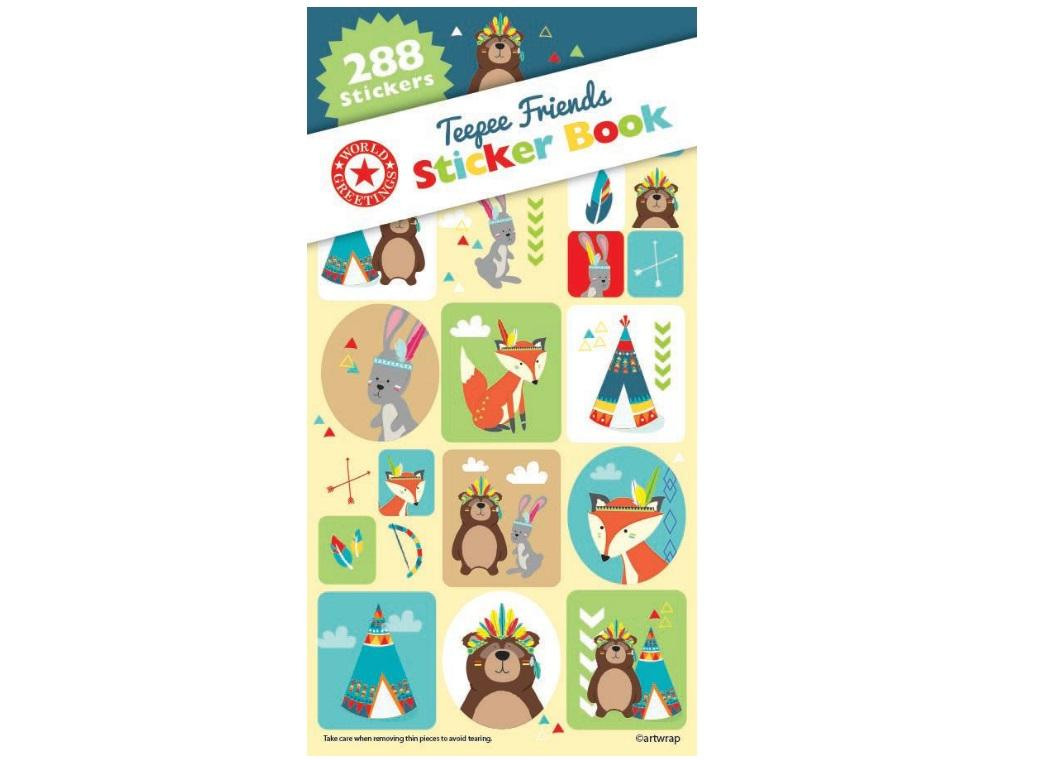 Sticker Book - Teepee Friends