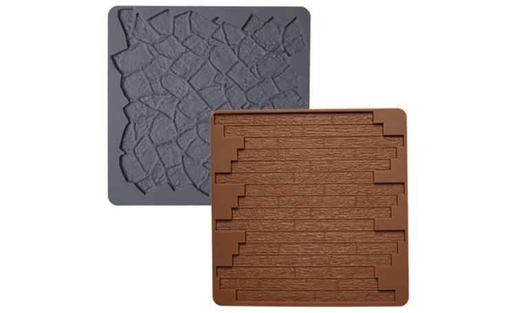 Wilton Silicone Texture Mat - Stone/Wood