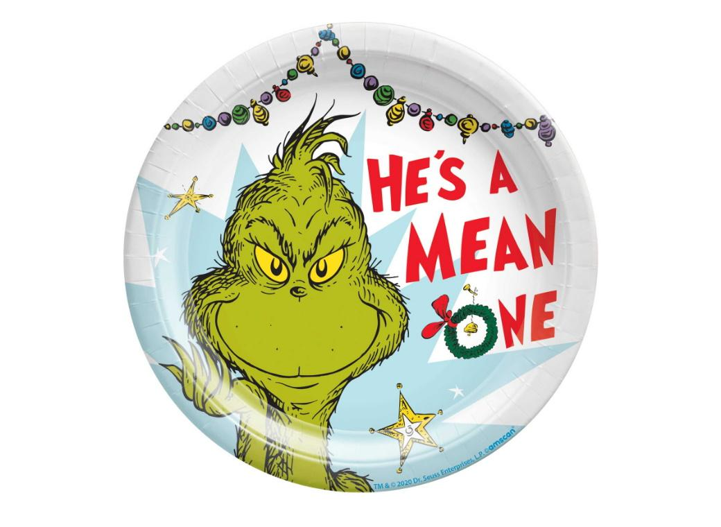 The Grinch Lunch Plates 8pk