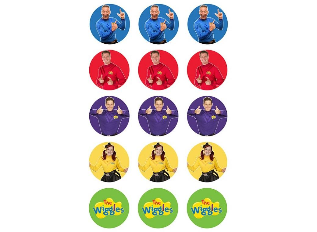 Edible Icing Cupcake Images - The Wiggles