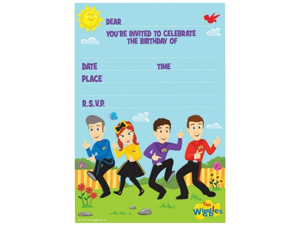 The Wiggles Invitations 8pk