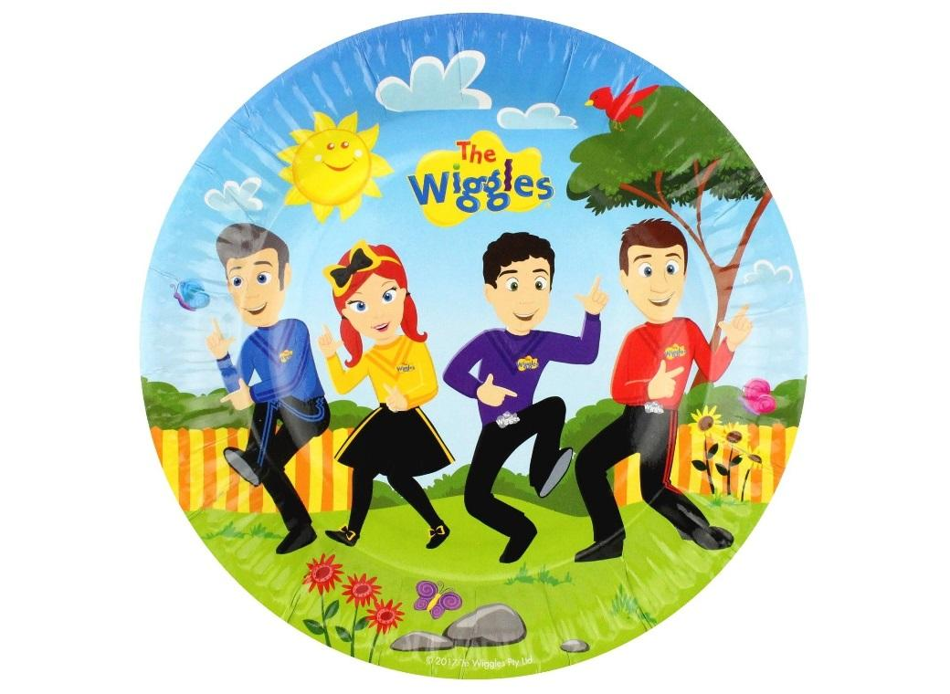 The Wiggles Plates 8pk