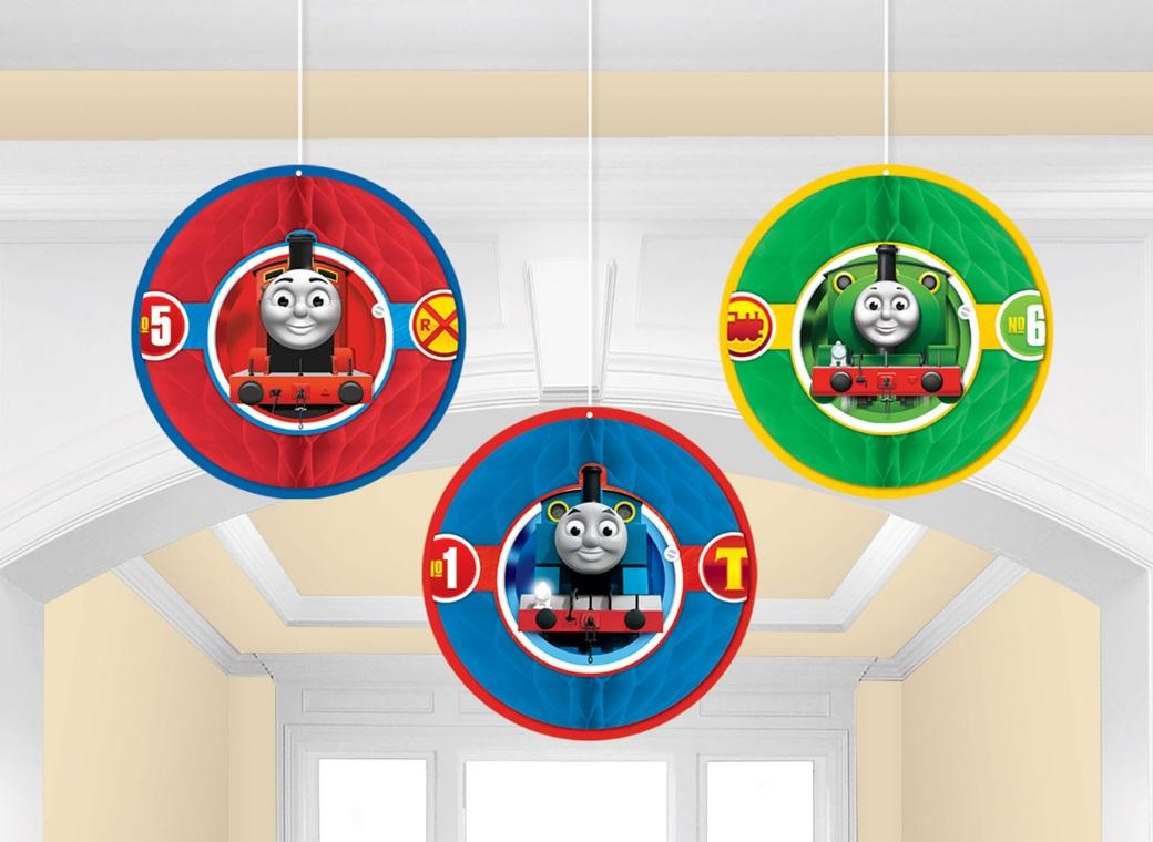 Thomas All Aboard Honeycomb Hanging Decorations