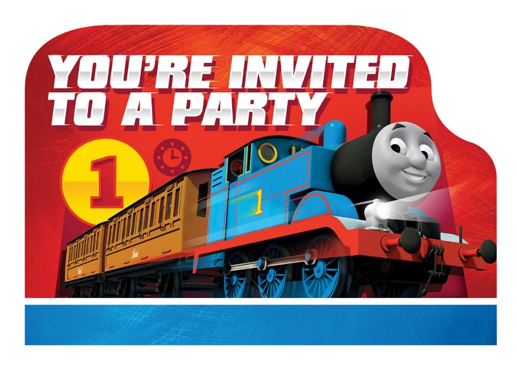 Thomas All Aboard Invitations 8pk