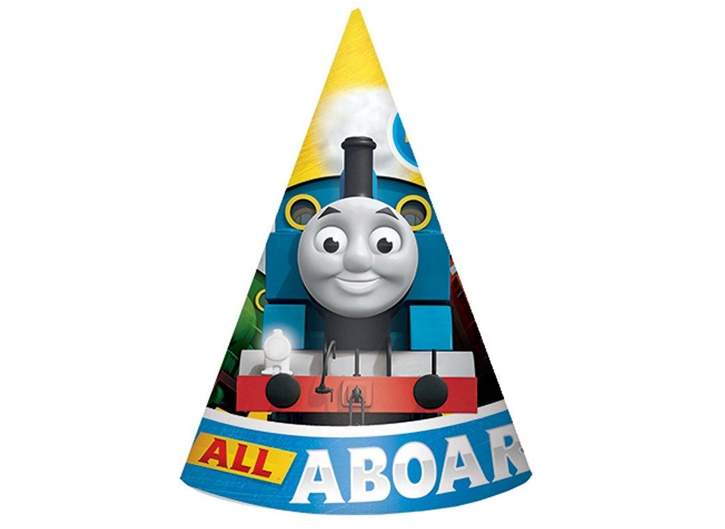 Thomas All Aboard Party Hats 8pk