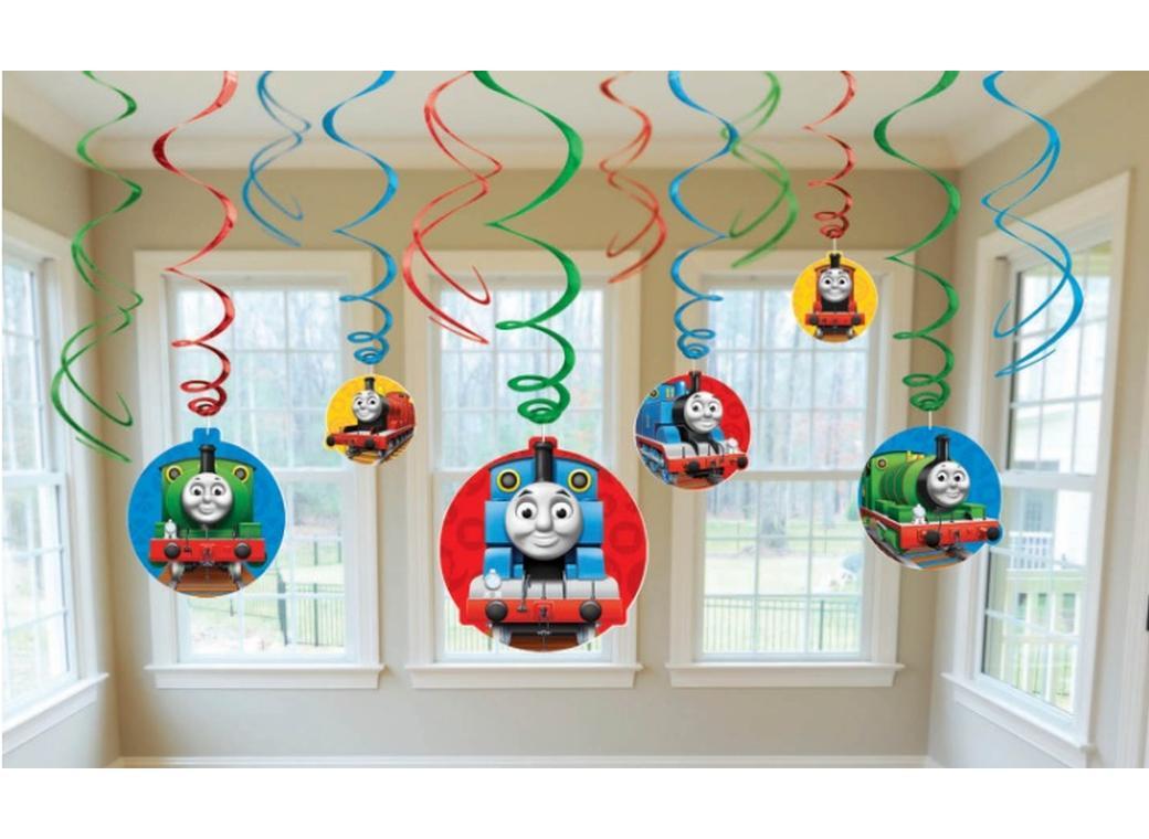Thomas the Tank Engine Hanging Swirl Decorations
