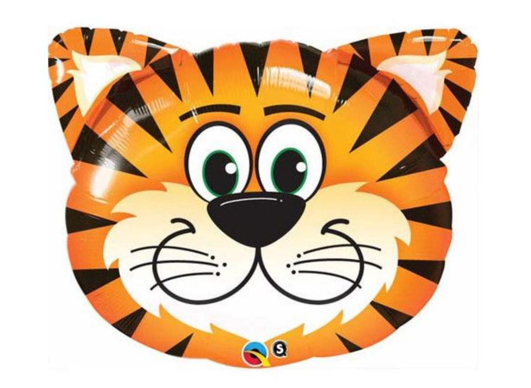 Tickled Tiger SuperShape Foil Balloon
