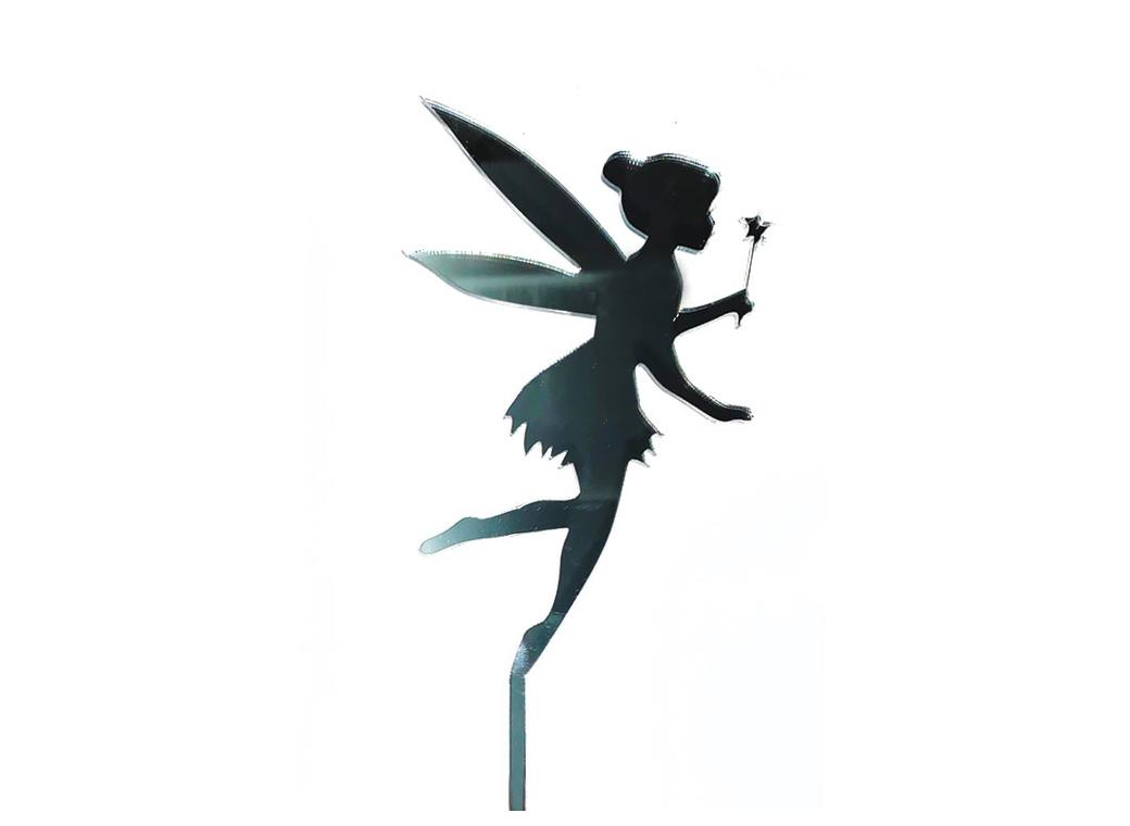 Tinkerbell Cake Topper - Silver