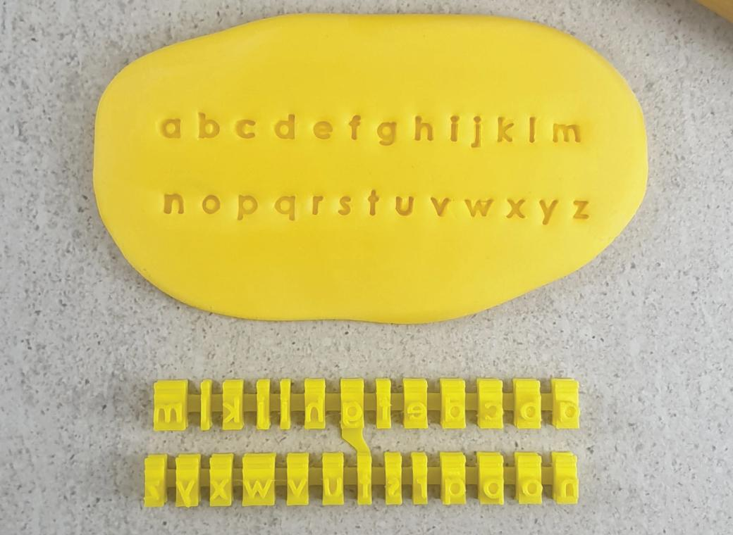 Tiny Lower Case Letter Stamps