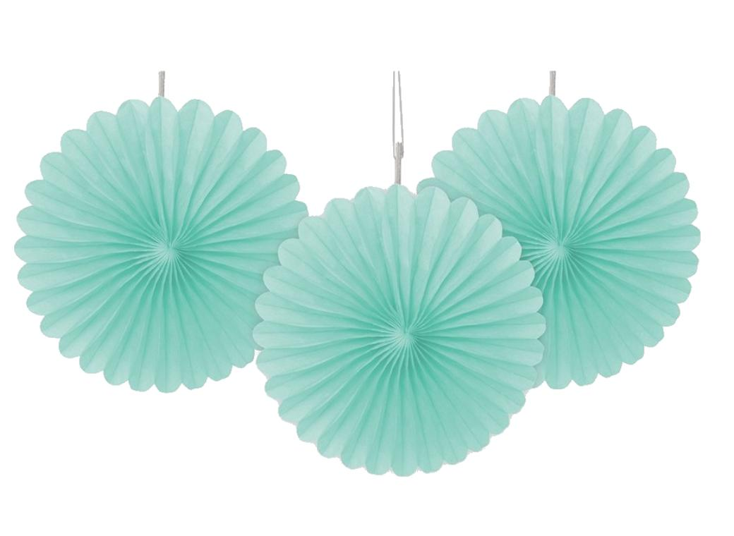 3 Pack Tissue Fans - Mint