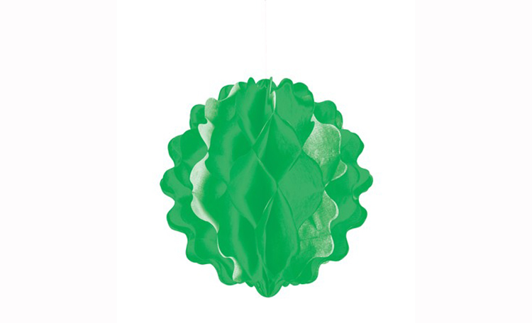 Tissue Honeycomb Ball - Green