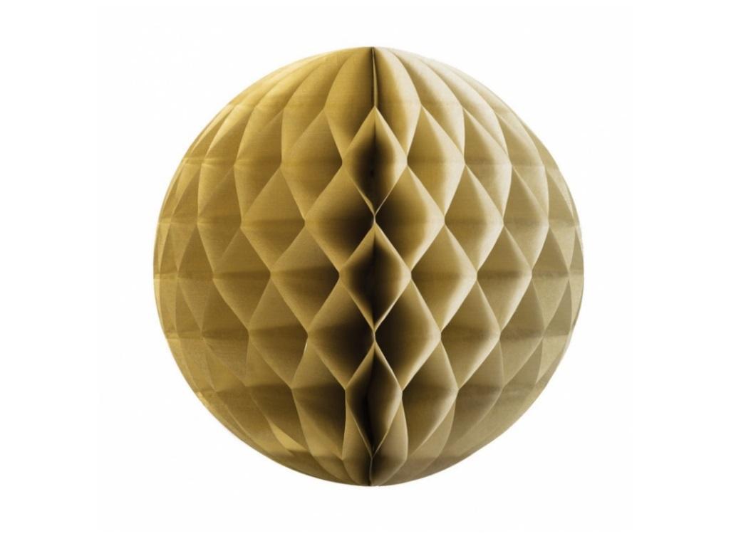 Tissue Honeycomb Ball 25cm - Gold