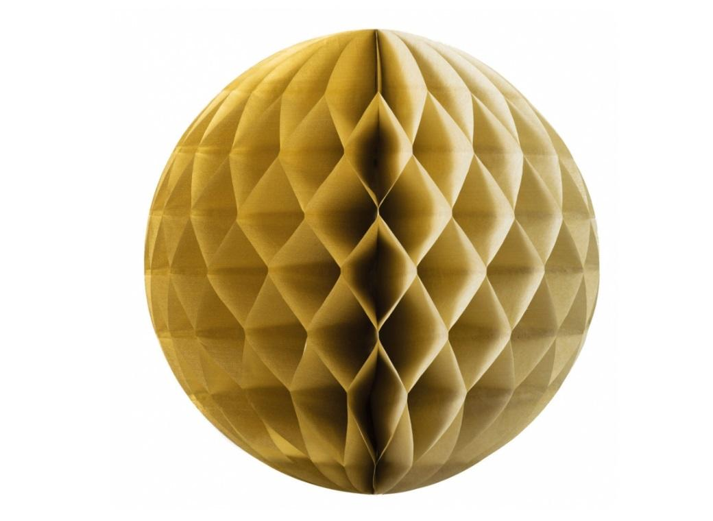 Tissue Honeycomb Ball 35cm - Gold
