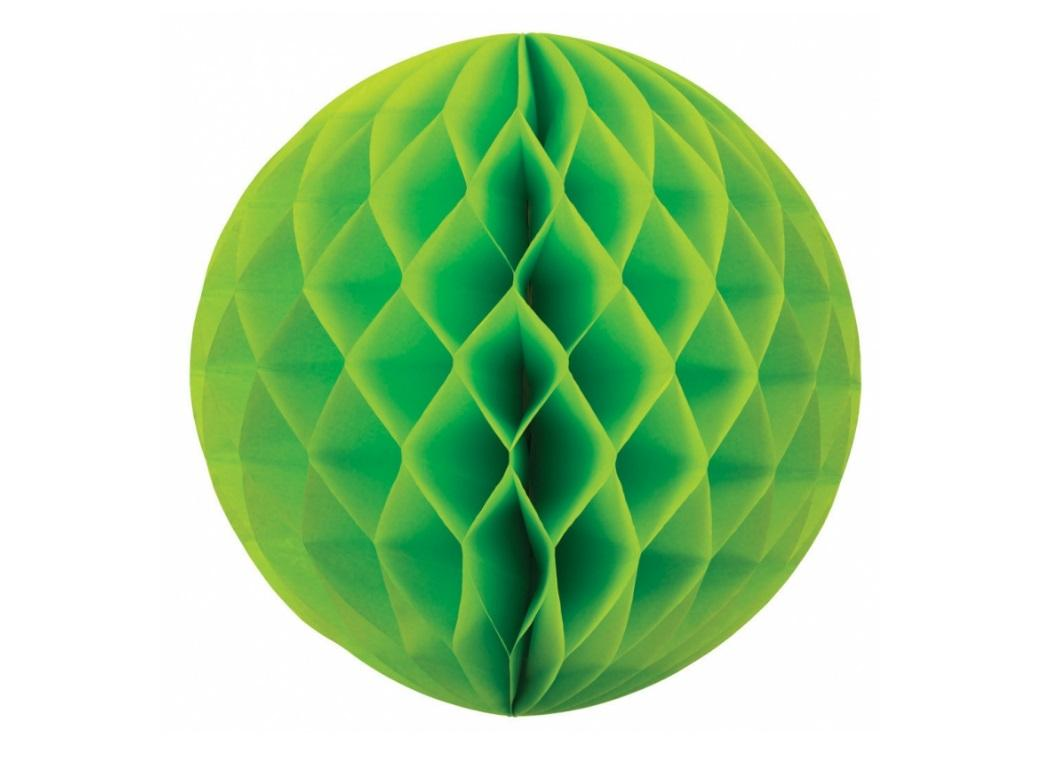 Tissue Honeycomb Ball 35cm - Lime Green