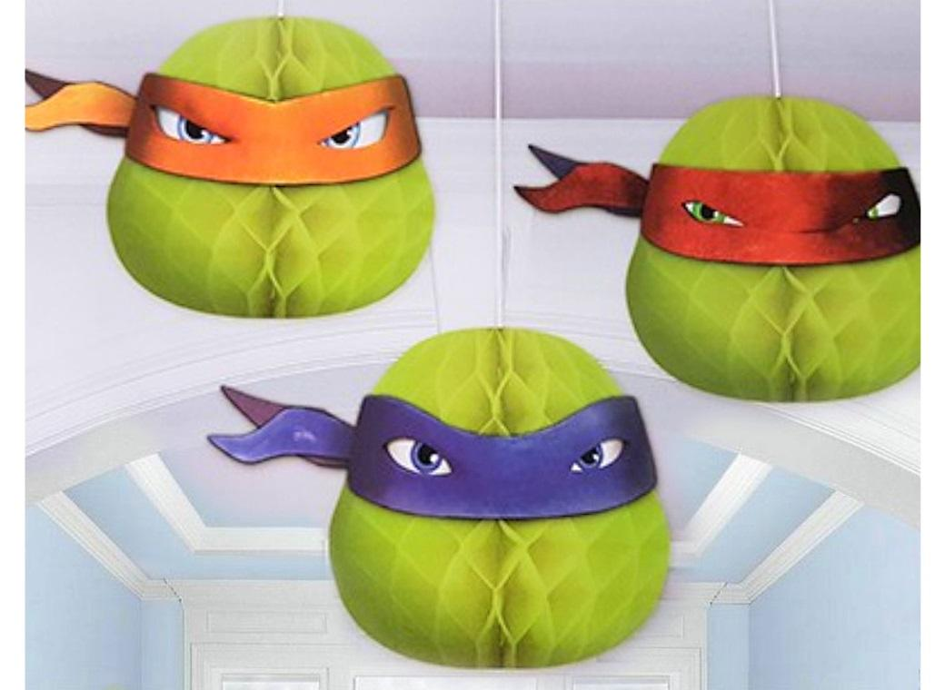 TMNT Honeycomb Hanging Decorations