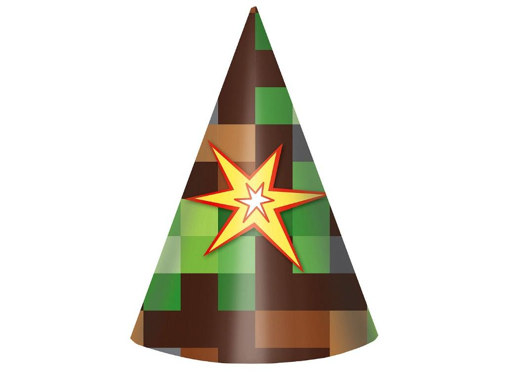 TNT Party Cone Hats 8pk
