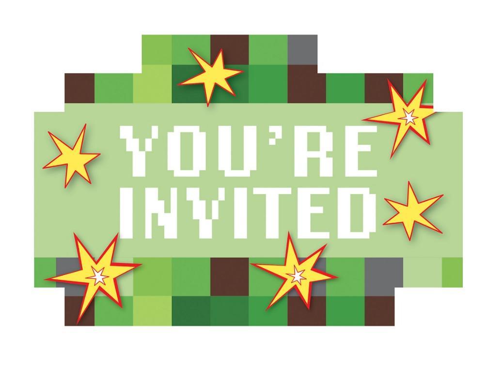 TNT Party Invitations 8pk