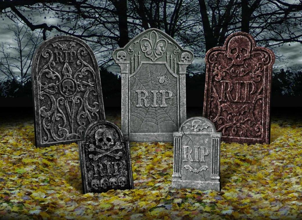 Tombstone Decorations 5pk