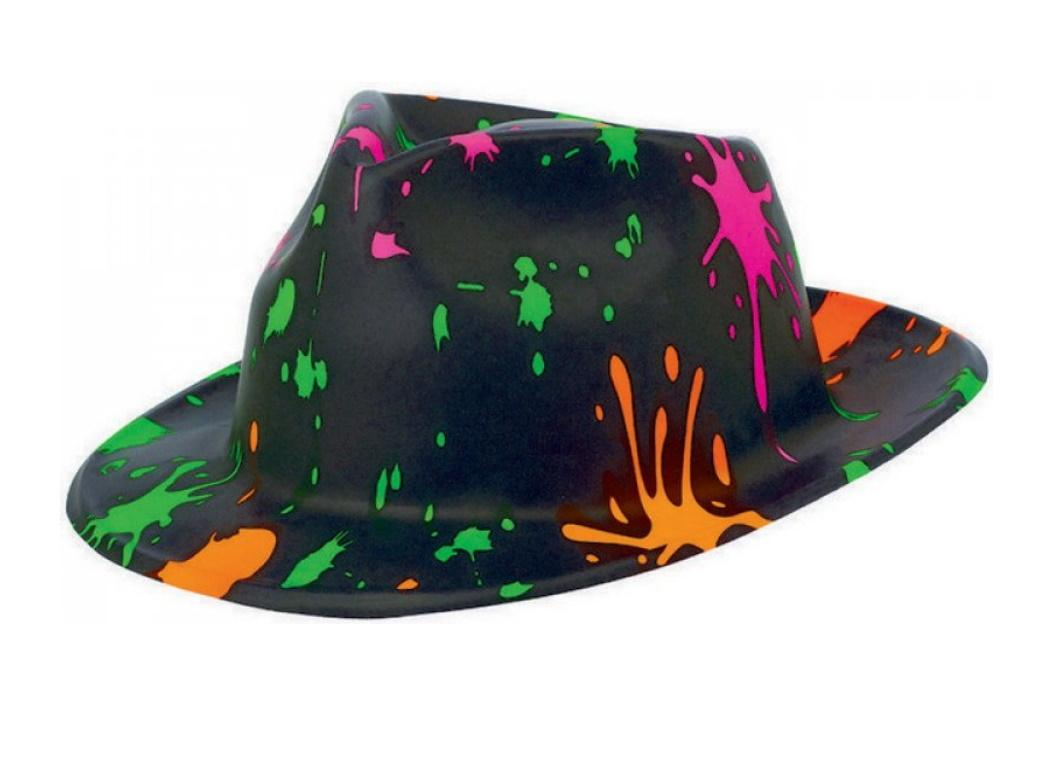 Totally 80s Painted Fedora Hat