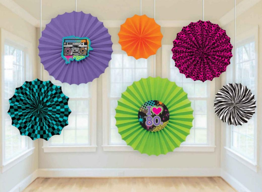 Totally 80s Paper Fan Decorations