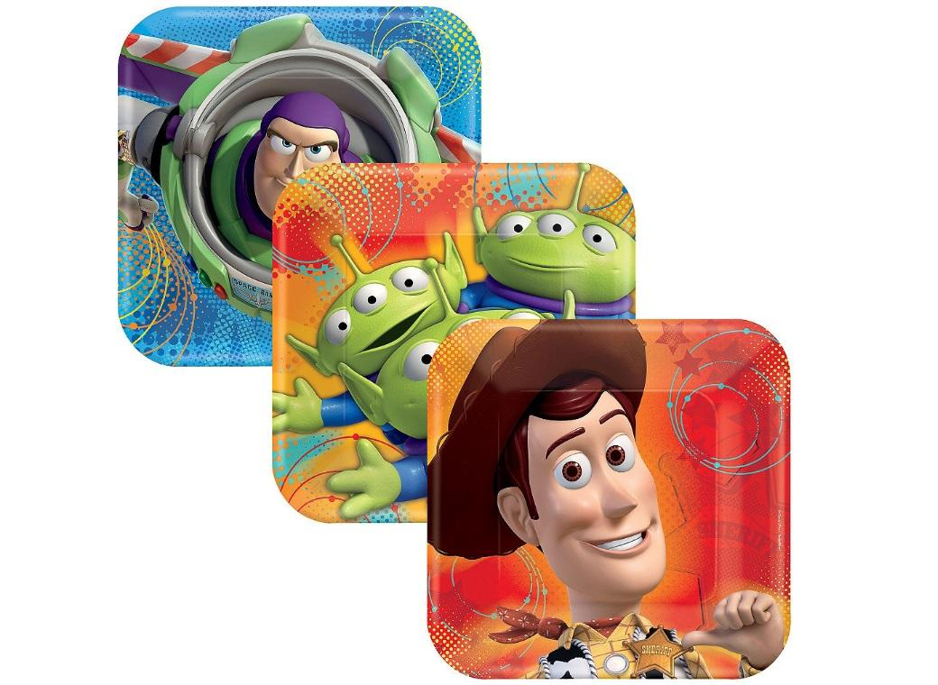 Toy Story Square Lunch Plates 8pk