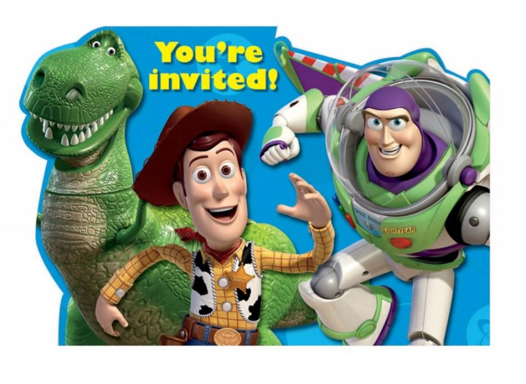 Toy Story Invitations 8pk