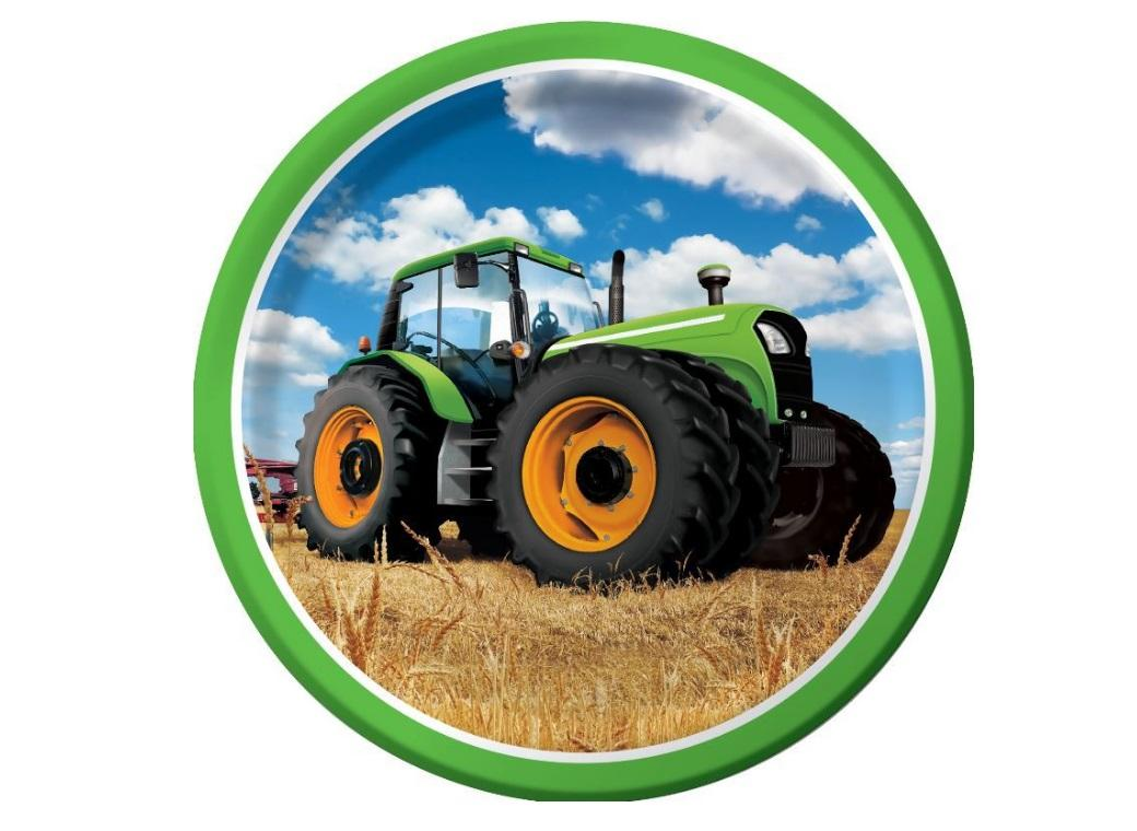Tractor Time Dinner Plates - 8pk