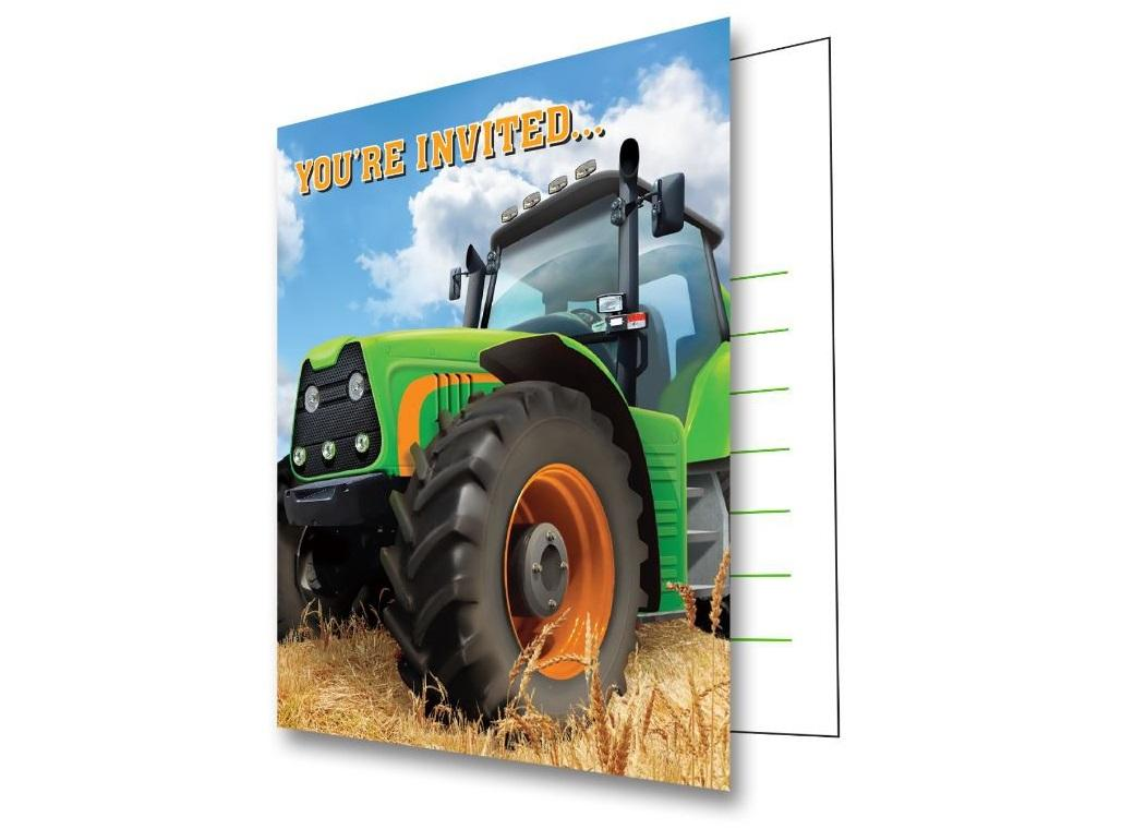 Tractor Time Invitations - 8pk