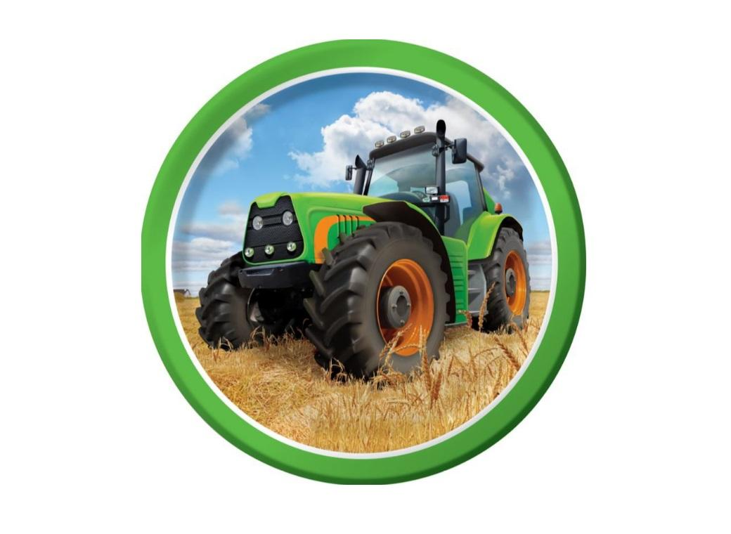 Tractor Time Lunch Plates - 8pk
