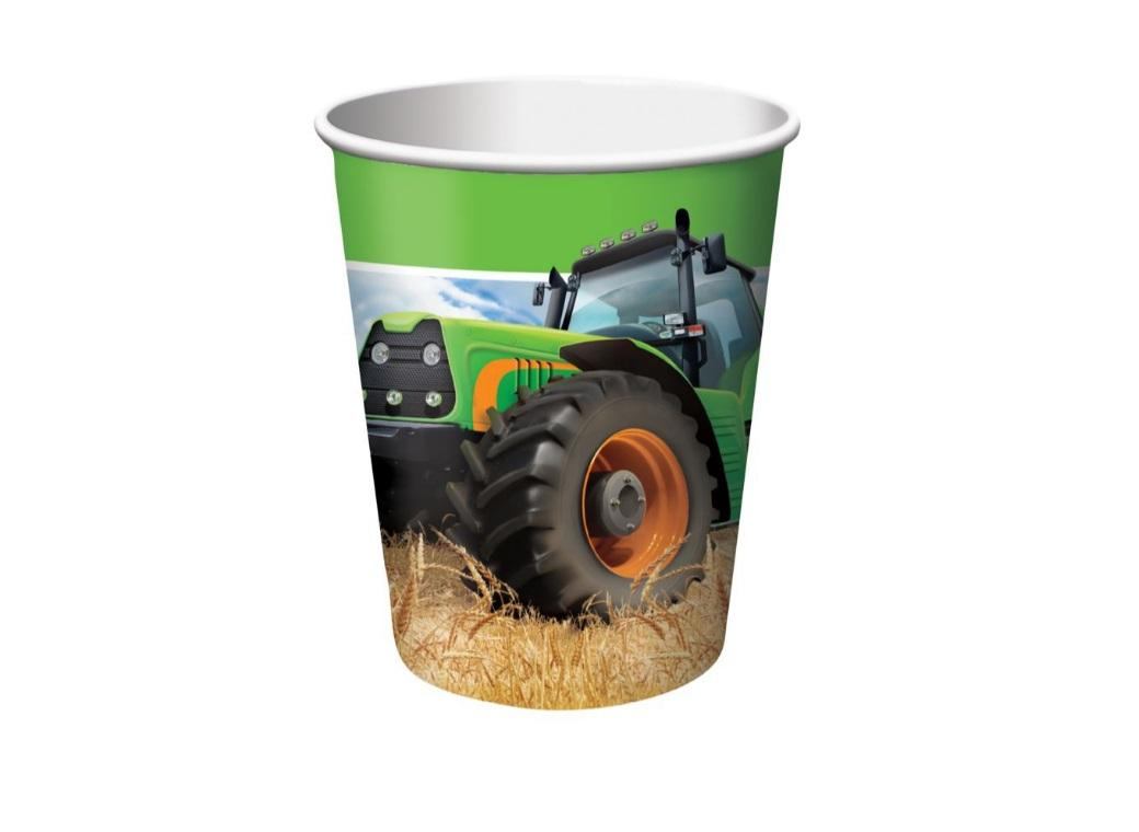 Tractor Time Cups - 8pk