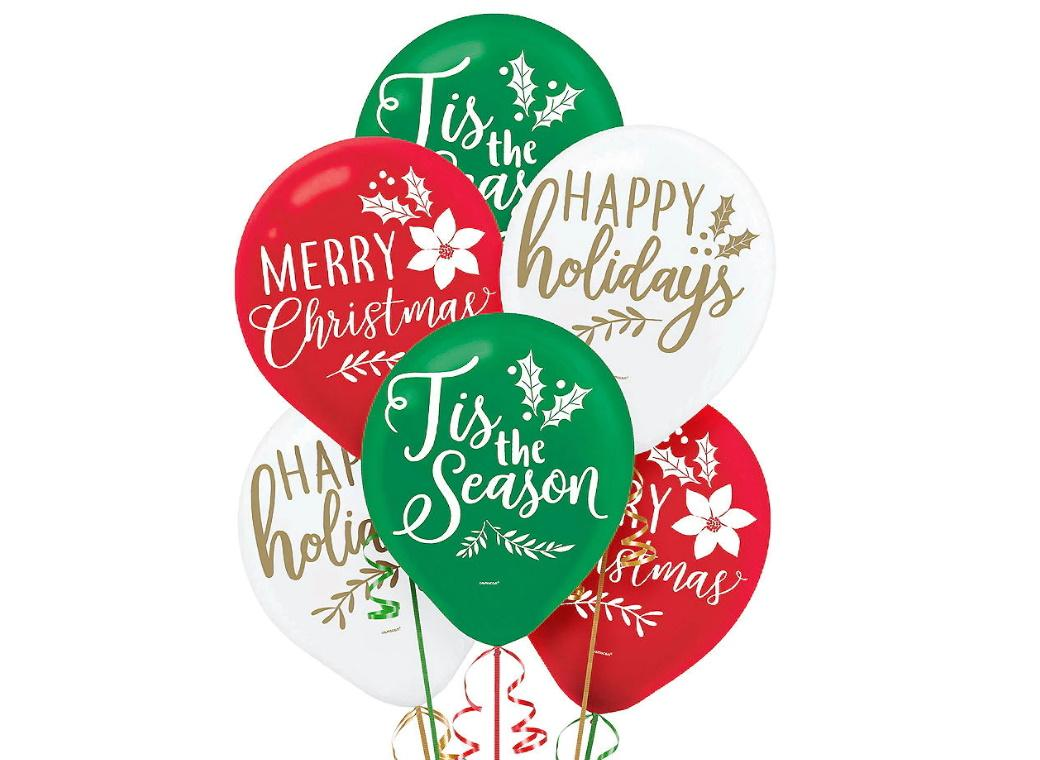 Traditional Christmas Balloons 15pk