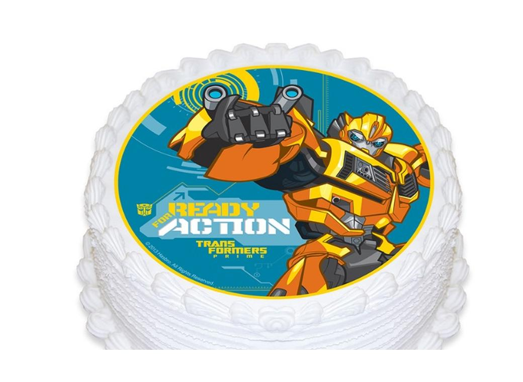 Edible Icing Image - Transformers Round