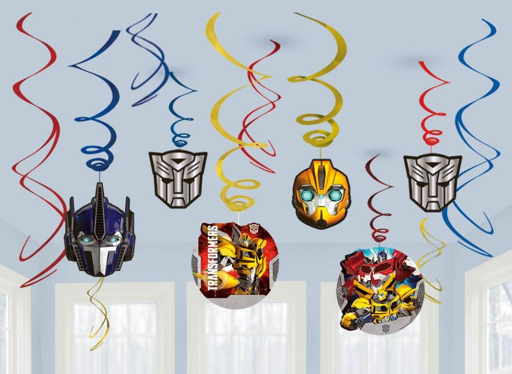 Transformers Hanging Swirls Decorations