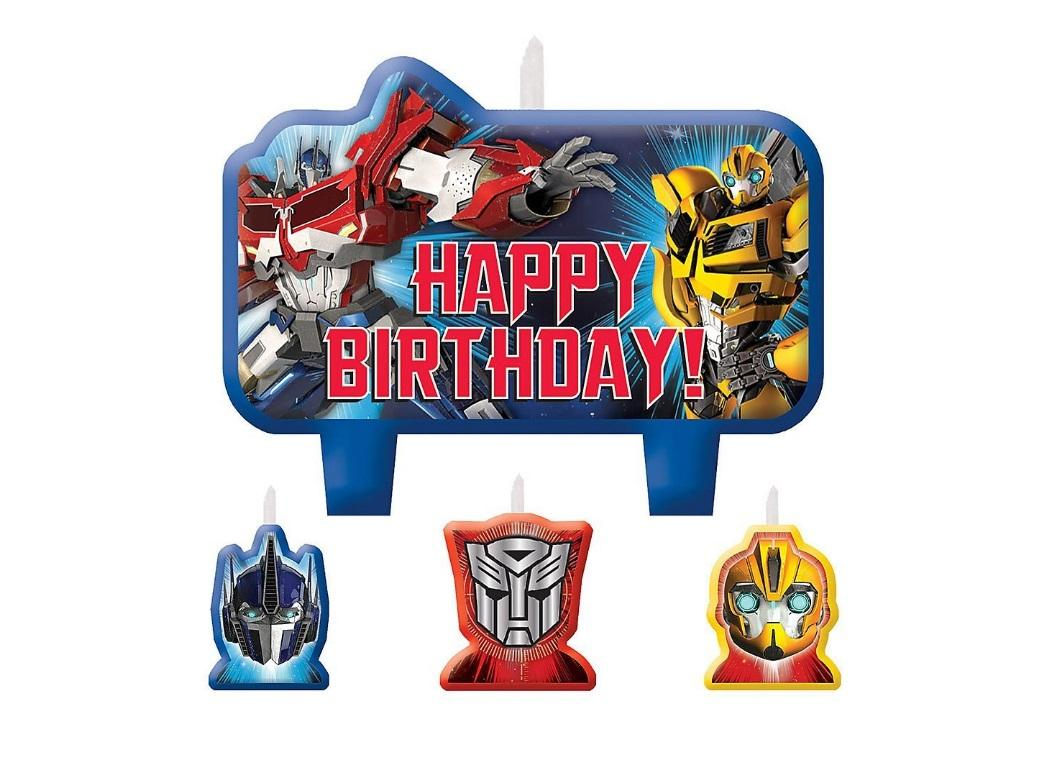 Transformers Birthday Candles Set