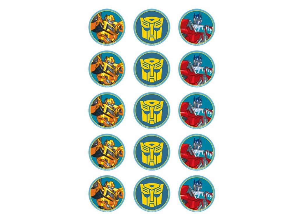 Edible Icing Cupcake Images - Transformers